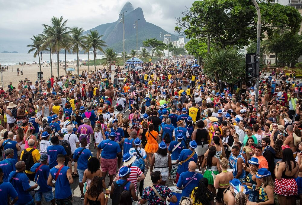 Street party during Rio Carnival