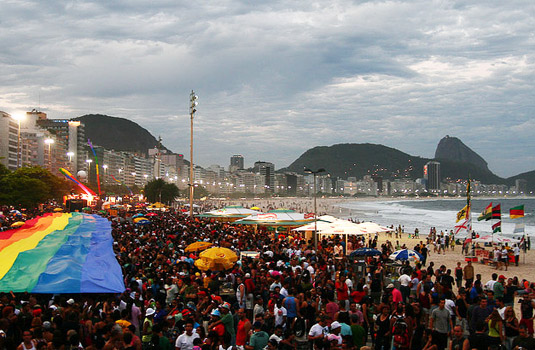 Gay pride in Rio de Janeiro Brazil