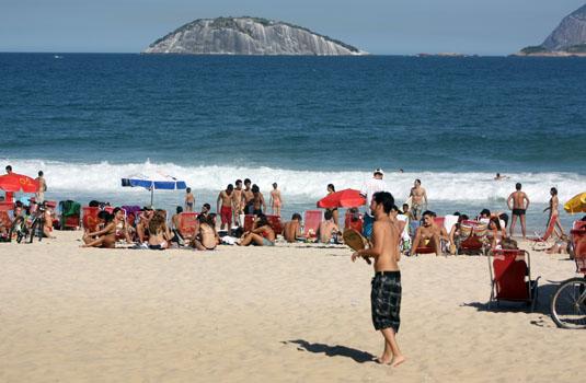 Playing at the beach - Ipanema Rio de Janeiro Brazil