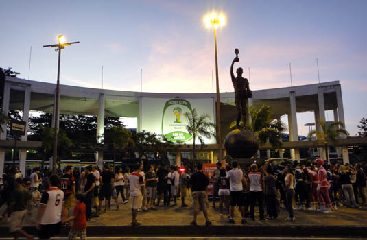 Brazilian soccer game - Maracana Rio Brazil