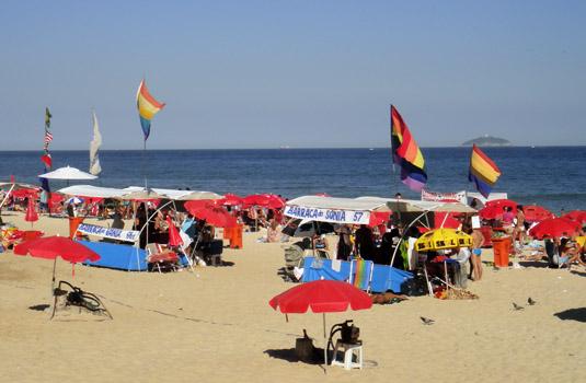 Gay beach options in Rio de Janeiro Brazil