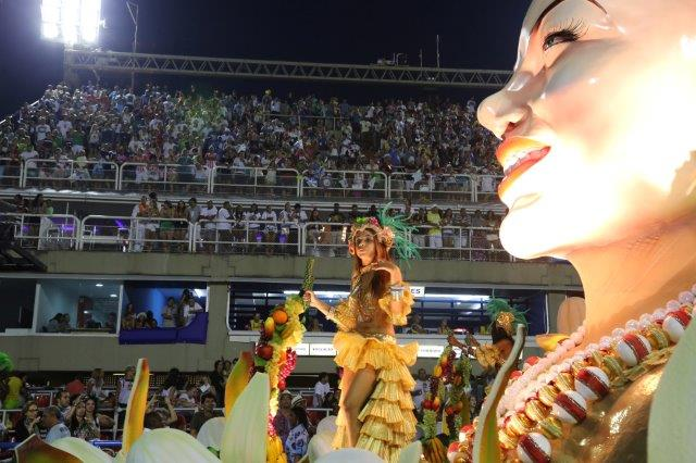 Grandstands and floats during Rio Carnival