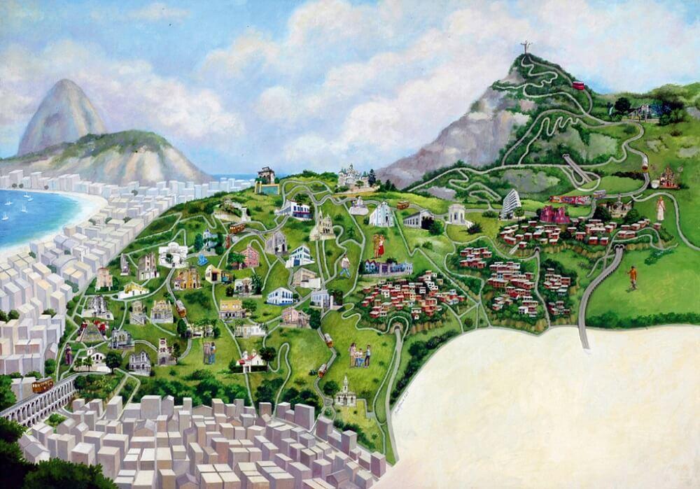 Map of Santa Teresa by Ana Maria Moura - Rio de Janeiro