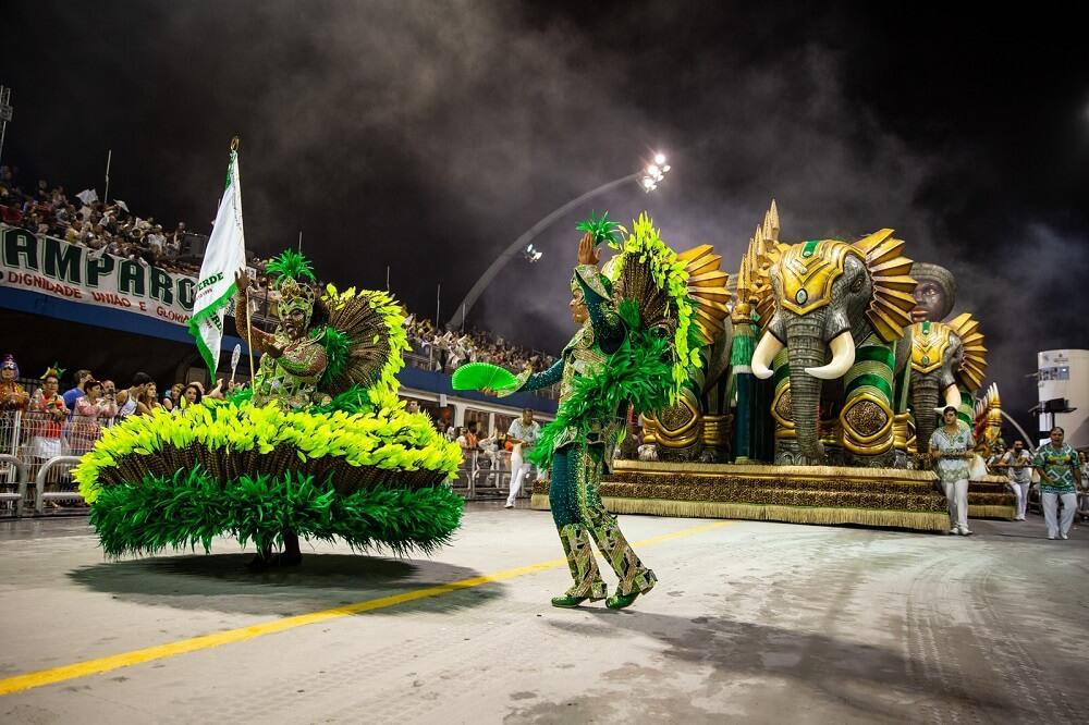 Sao Paulo carnival parade in Anhembi