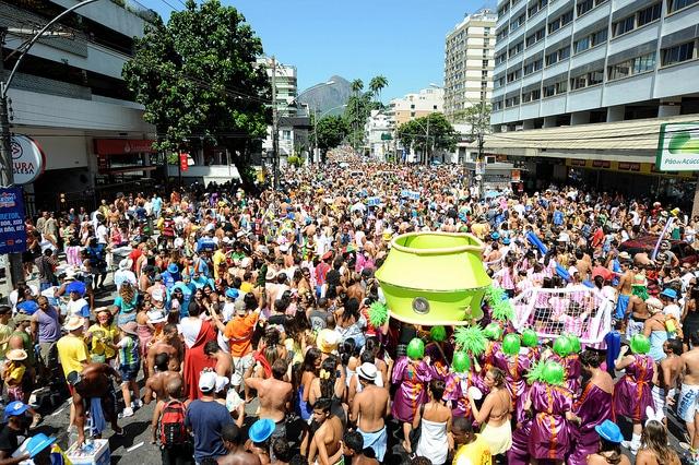 Street parties around Rio de Janeiro