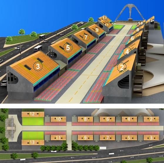 3D Sambadrome Map
