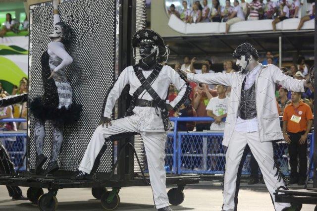 Performers at the Rio Carnival parade
