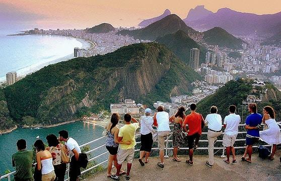 Sugar Loaf mountain view in Rio de Janeiro
