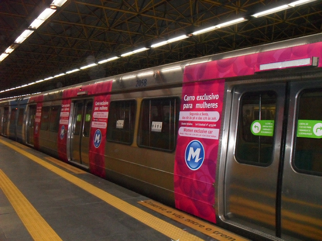 Women excluse car - rio subway