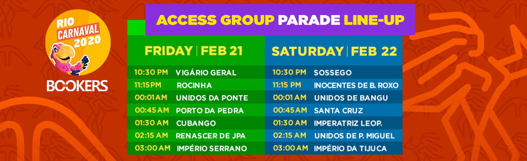Access Group Parade Line-up