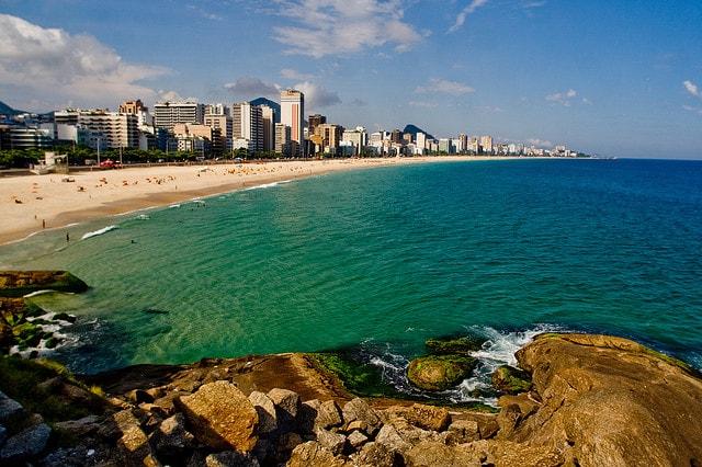 Nice beaches in Ipanema, Rio de Janeiro